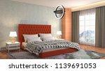 bedroom interior. 3d... | Shutterstock . vector #1139691053