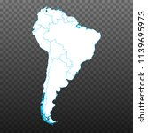 map of south america. vector...   Shutterstock .eps vector #1139695973