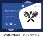quality one page badminton... | Shutterstock .eps vector #1139704919