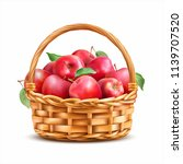 Basket With Red Apples Isolated ...