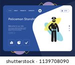 quality one page policeman... | Shutterstock .eps vector #1139708090