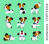 cartoon character jack russell... | Shutterstock .eps vector #1139713316