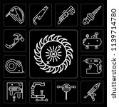 set of 13 simple editable icons ... | Shutterstock .eps vector #1139714780