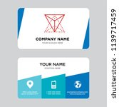 tetrahedron business card... | Shutterstock .eps vector #1139717459
