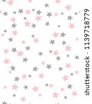 cute hand drawn stars vector... | Shutterstock .eps vector #1139718779