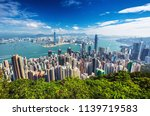 amazing view on hong kong city... | Shutterstock . vector #1139719583