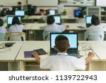 primary students study by... | Shutterstock . vector #1139722943