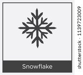 snowflake icon isolated on... | Shutterstock .eps vector #1139723009