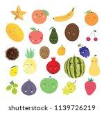 cute cartoon fruit set | Shutterstock .eps vector #1139726219