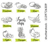 hand drawn sketch style fruits... | Shutterstock .eps vector #1139726309