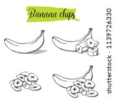 hand drawn sketch style banana... | Shutterstock .eps vector #1139726330