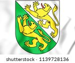 3d thurgau coat of arms ... | Shutterstock . vector #1139728136