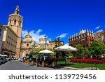 plaza de la reina   central... | Shutterstock . vector #1139729456
