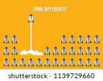 think differently   being...   Shutterstock .eps vector #1139729660