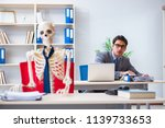 businessman working with... | Shutterstock . vector #1139733653