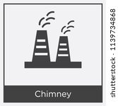 chimney icon isolated on white... | Shutterstock .eps vector #1139734868