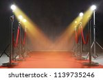 red carpet  rope barriers and... | Shutterstock . vector #1139735246