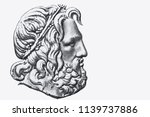 50 greece draycar  bank note.... | Shutterstock . vector #1139737886