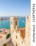 tower  view of the peniscola... | Shutterstock . vector #1139740916