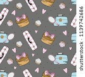 seamless pattern with... | Shutterstock .eps vector #1139742686