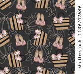 seamless pattern with... | Shutterstock .eps vector #1139742689