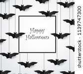 bats background. halloween...   Shutterstock .eps vector #1139747300