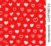 different sketch style hearts... | Shutterstock .eps vector #1139748713