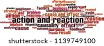 action and reaction word cloud... | Shutterstock .eps vector #1139749100