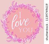 valentine pink background with...   Shutterstock .eps vector #1139749619