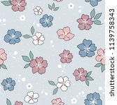 seamless floral pattern with... | Shutterstock .eps vector #1139758343