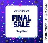 sale banner template design ... | Shutterstock .eps vector #1139759939