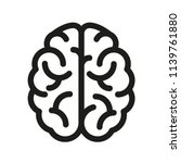 human brain icon   vector | Shutterstock .eps vector #1139761880