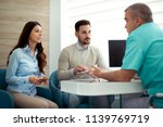 patients consulting the dentist ...   Shutterstock . vector #1139769719