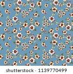 watercolor bright floral... | Shutterstock . vector #1139770499
