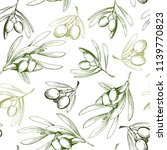 seamless pattern with olive... | Shutterstock .eps vector #1139770823