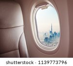 airplane interior with window... | Shutterstock . vector #1139773796
