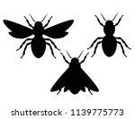 vector set of black and white... | Shutterstock .eps vector #1139775773