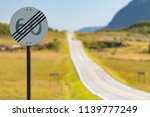 60 speed limit cancel road sign ... | Shutterstock . vector #1139777249