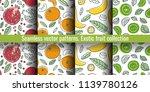 seamless pattern set. fruit... | Shutterstock .eps vector #1139780126