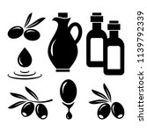 olive set. black silhouettes.... | Shutterstock .eps vector #1139792339