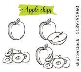 hand drawn sketch style apple... | Shutterstock .eps vector #1139795960