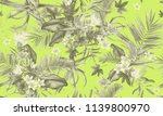 seamless floral pattern with... | Shutterstock . vector #1139800970