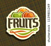 logo for set of fresh fruits ... | Shutterstock . vector #1139801249