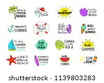 collection of summer icons  ... | Shutterstock .eps vector #1139803283