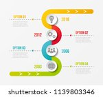 company milestone with business ... | Shutterstock .eps vector #1139803346