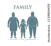 family. mom  dad and daughter.... | Shutterstock .eps vector #1139804459