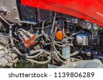 modern tractor for agriculture... | Shutterstock . vector #1139806289