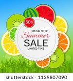 abstract summer sale background ... | Shutterstock .eps vector #1139807090