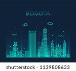 bogota skyline  colombia.... | Shutterstock .eps vector #1139808623