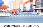 city street road skyscraper... | Shutterstock .eps vector #1139810279